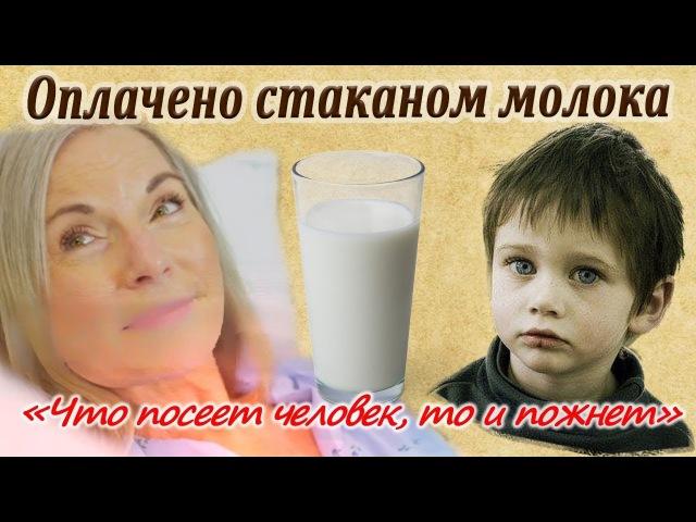 Оплачено стаканом молока! Трогательная до слёз история!