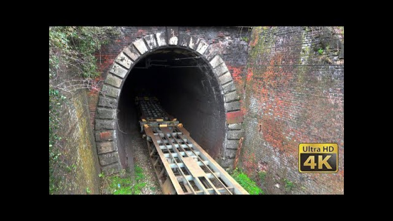 Old railway tunnel Čortanovci - Trains in tunnel - Mountain Fruška Gora [4K]
