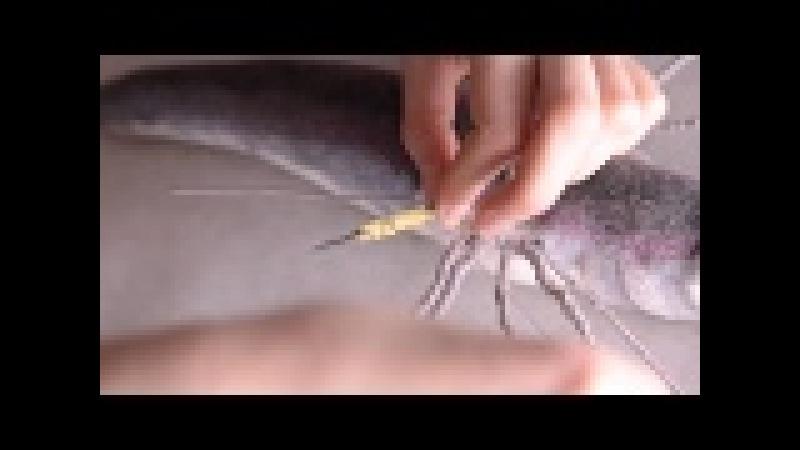 Calissa Moon Art Needle Felting Tutorial Flying fish Bosch Part 5