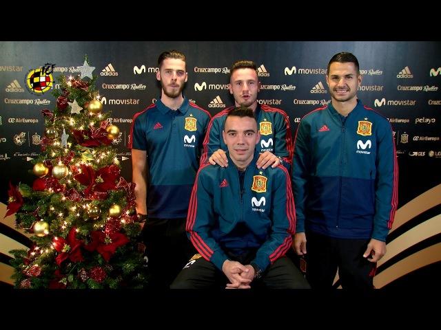 ¡Nuestros internacionales te desean feliz Navidad!