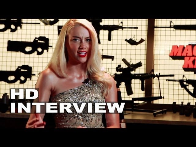 Machete Kills: Amber Heard On Set Movie Interview