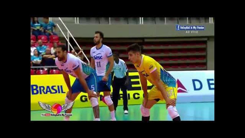 [HD] SESC-RJ vs Volei Renata | 08-12-2017 | Brazil SuperLiga Men 2017/2018