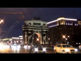 Ночной вид на Кутузовский проспект.Night view on Kutuzovskiy Prospekt -2