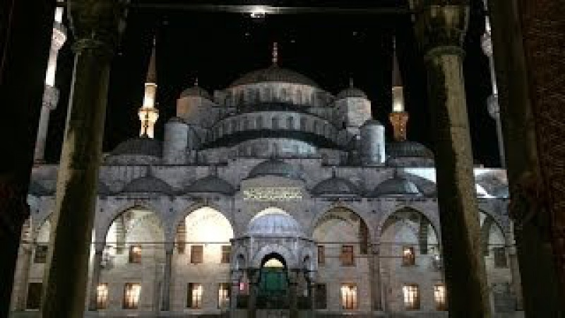 Fajr Adhan at the Blue Mosque (Sultan Ahmed Mosque) Istanbul