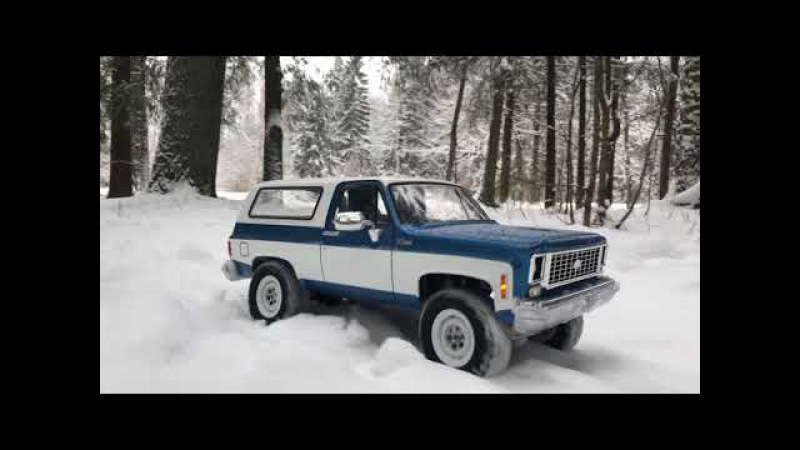 RC Trucks OFF Road Snow Adventures Rc4WD Trail Finder 2 forest run Chevrolet Blazer K5