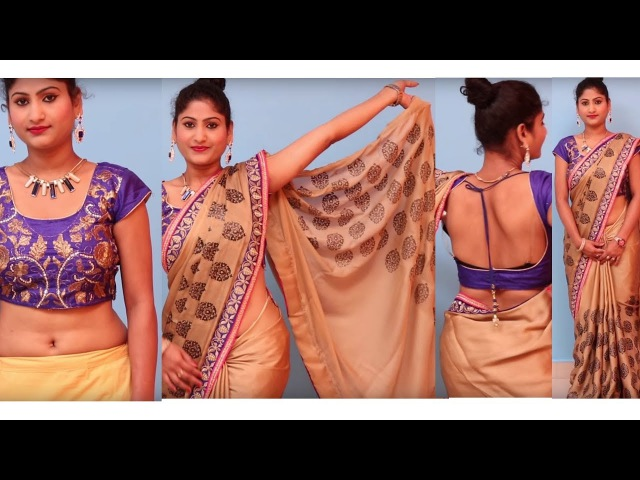 Learn How To Wear Saree In Different Ways | Latest Fills Pallu Style Saree Draping Tutorial.