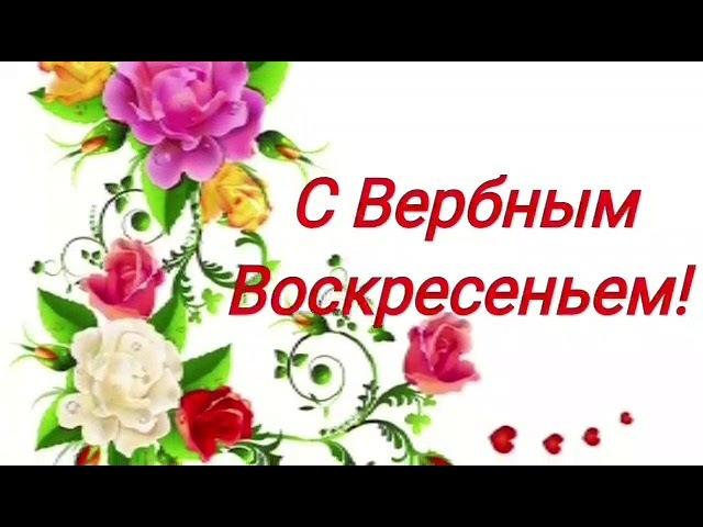 Поздравляю с Вербным Воскресеньем Очень красивые поздравления Музыкальная открытка