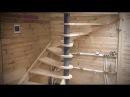 Сборка винтовой лестницы с деревянными ступенями своими руками