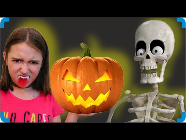 Хэллоуин Превратилась В Тыкву Танец Скелета Halloween Turned Into A Pumpkin The Dancing Skeleton