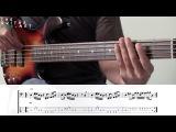 Funk Bass Line/Tab + Jam Track -  JamTracksChannel -