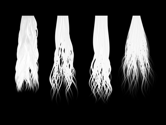 Customizing alpha hair texture