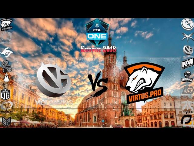 [RU-LIVE] VG vs VP. BO5. Гранд-финал. Мейджор. Турнир ESL One Katowice 2018. 1 000 000$