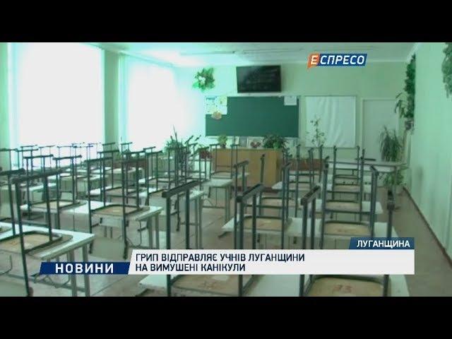 Грип відправляє учнів Луганщини на вимушені канікули