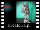 Powertex Anioł na cokole rzeźba w technice utwardzania KreaCraftShow040