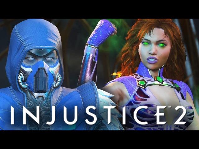 Injustice 2 БРЕЙН ПРОТИВ ДАШИ ОБЗОР НОВЫХ ПЕРСОВ