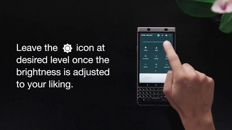 BlackBerry KEYOne. Как изменить яркость экрана