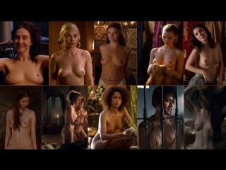 Все обнажения в сериале Игра Престолов в одном кадре 1080р голые актрисы знаменитости порно секс
