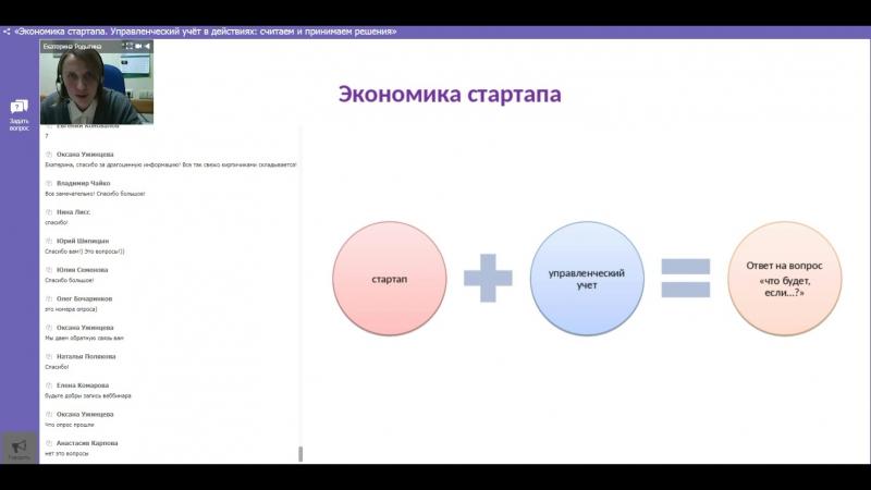 Екатерина Родыгина Экономика стартапа 07.11.2017г.
