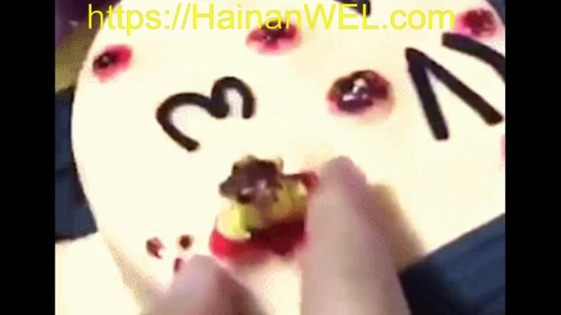 Пирожное-розыгрыш для прыщавых Научись выдавливать прыщи набирает популярность в Санья и Хайкоу на острове Хайнань, Китай