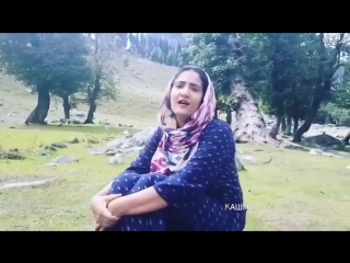 Kashmiri Girl Sing Beautiful Song In Beautiful Kashmir Valley /