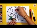 Как нарисовать ДЕРЕВО ЯБЛОНЮ Урок рисования для детей от 3 лет