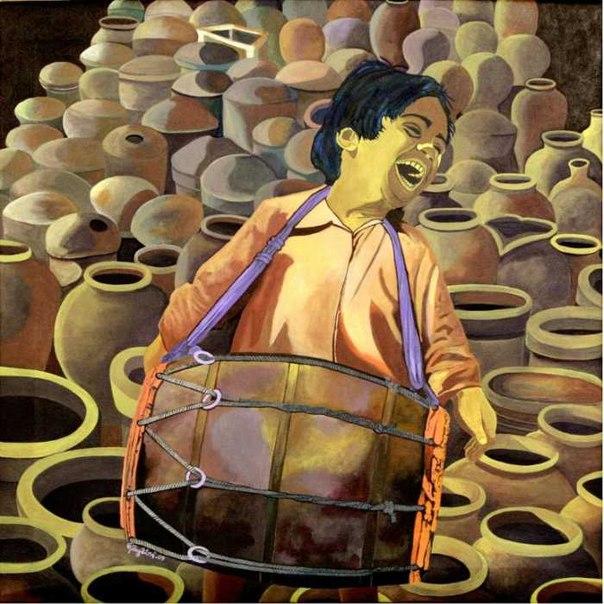 Гаятри Артист (Gayatri Artist) - современный индийский художник. Родился в городе Гуруваюр, Керала, Индия. Учился в художественной школе Шрикришна Гуруваюр. В настоящее время живет и работает в городе Триссур, Индия.
