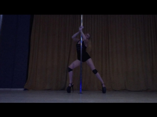 Exotic pole dance Nadezhda Gromyko