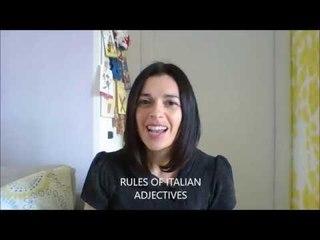 LEARN ITALIAN: RULES OF ITALIAN ADJECTIVES