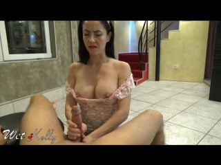 Slutty wife give the best bj and oily handjob to a friend of her husband | wetkelly