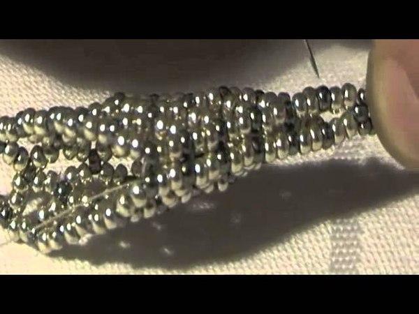 Tutorial orecchini swarovski su rete Vitty 2 part