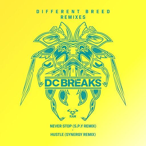 DC Breaks альбом Never Stop (S.P.Y Remix) / Hustle (Synergy Remix)