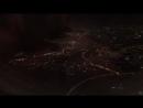 Ночной вид Абу Даби из окна самолёта