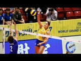 Top 15 BEST Volleyball Spikes by Natália Pereira Brazil - 2017 Womens World Grand Champions Cup