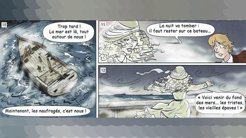 Regarde et écoute BD Français facile Niveau 3-A2/B1- L'épave