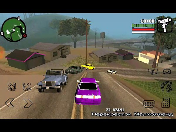 Grand Theft Auto San-Andreas Разъезжаю На Вазе 2110 BPAN Под Музон Rep Мишаня Тури-Рури Девочка БПАН
