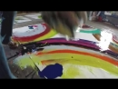 Painting large abstract art using drag and smooth techniques by Swarez