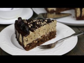 Низкокалорийный торт мусс с черносливом и грецкими орехами