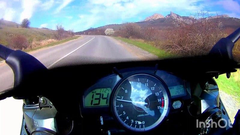 Из Щебетовки в Коктебель за 3 минуты на Yamaha R1
