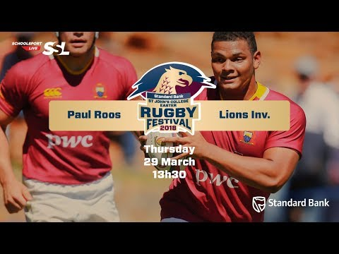 St Johns Rugby Festival 2018 - Paul Roos vs Lions Inv, 29 March