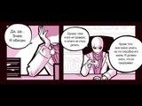 Собеседование Санса с Гастером комикс Undertale (андертейл)