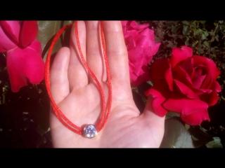 Браслет-ожерелье Красная нить