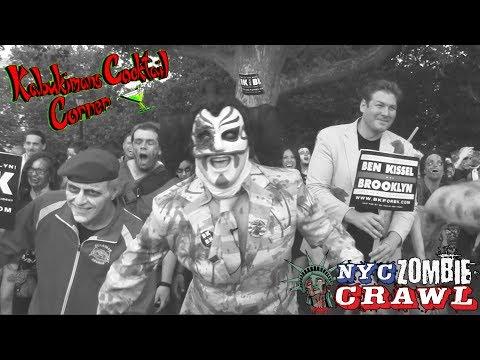 Sgt. Kabukiman NYPD, Troma Lloyd Kaufman Endorse Ben Kissel at the NYC Zombie Crawl!