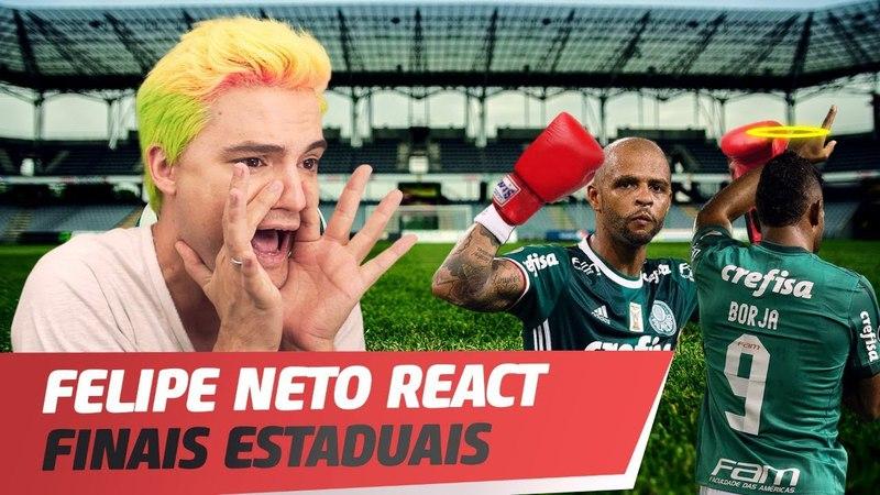 FUTEBOL RAIZ NAS FINAIS DOS ESTADUAIS - FELIPE NETO REACT 3 De Sola - Briga com Felipe Melo