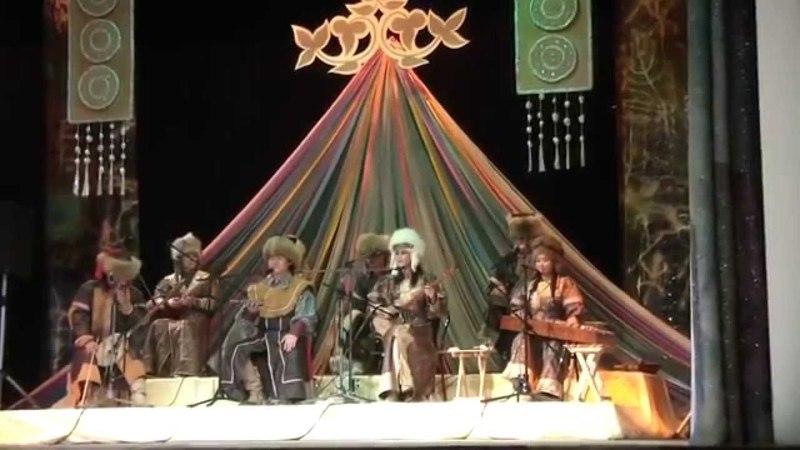Горловое пение Этника Хакасская группа Улгер исполняет хакасский тахпах