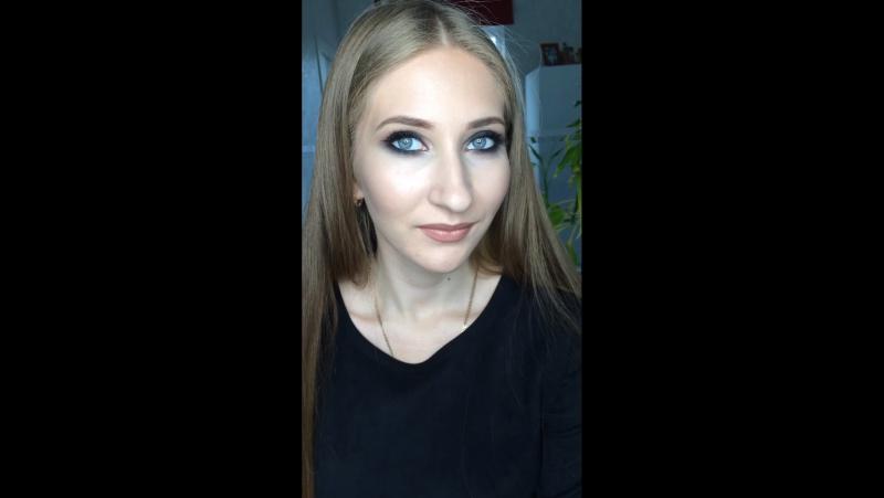 Вечерний макияж smoky eyes Victoriabiryukovamakeup