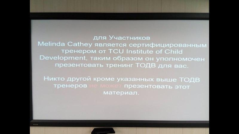 Мелинда Кэти Терапия ТОДВ. День 2 (3ч) семинар в Тольятти
