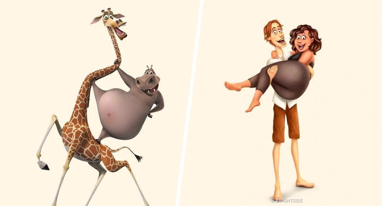 Если бы зверюшки из мультфильмов превратились в людей...