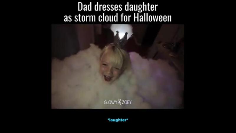 Dad Dresses Daughter As Storm Cloud