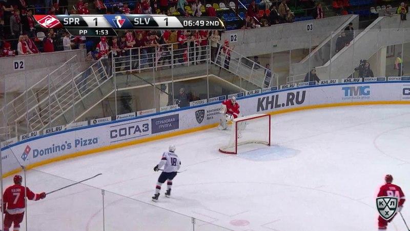 Моменты из матчей КХЛ сезона 17 18 • Удаление Джонатан Чичу Слован оштрафован на 2 минуты за атауку игрока не владеющего шай