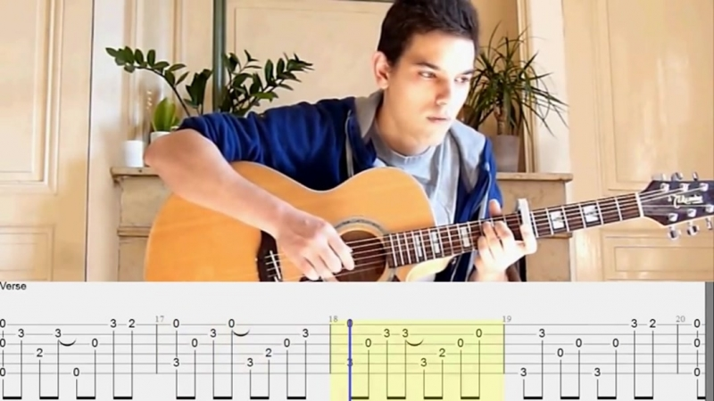 Sting - Fields Of Gold (avec tablature)(fingerstyle guitar solo picking tab)